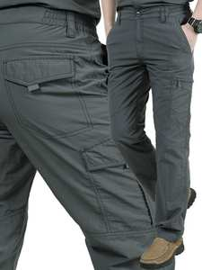 Pants Trousers Overall Light-Weight Cargo Hiking Outdoor Multi-Pocket Strategical-Work