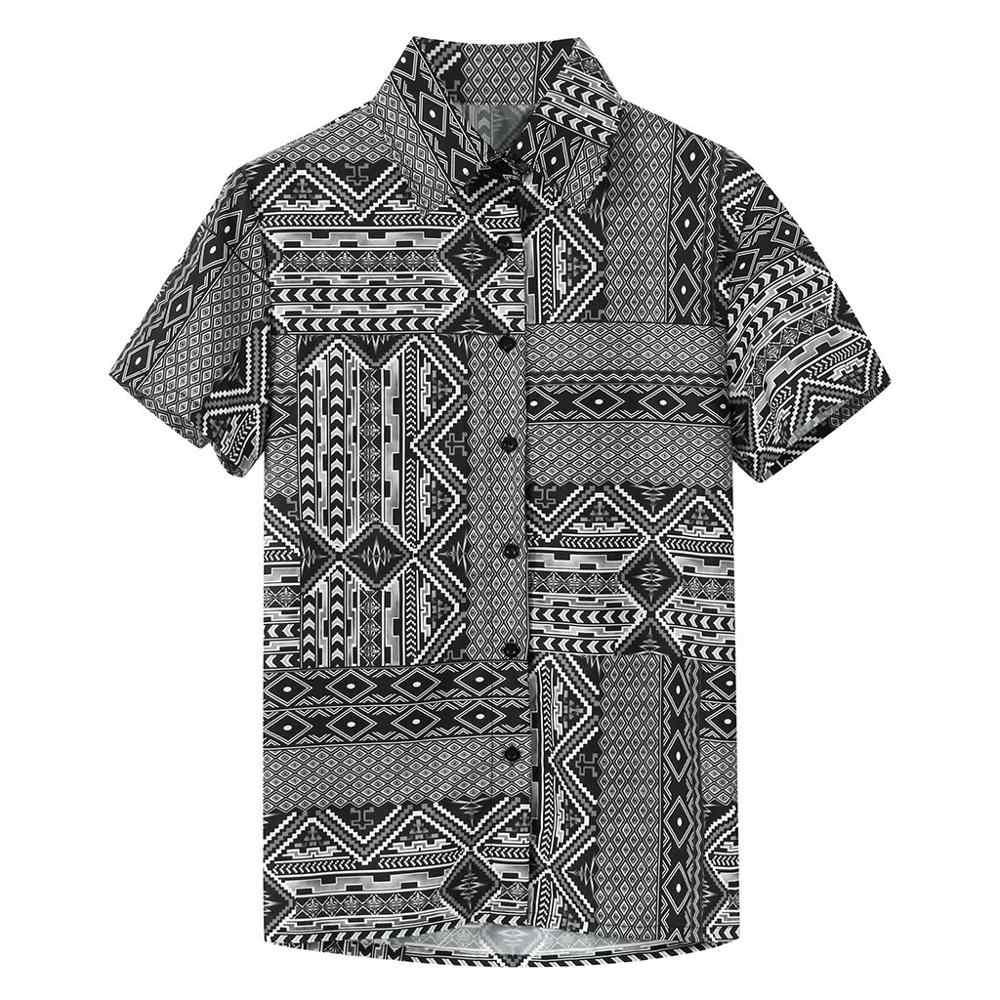 Camicia hawaiana Casual Mens Summer New Fancy camicie da spiaggia stampate camicie Hawaii a maniche corte allentate Camisa Masculina maschile A612
