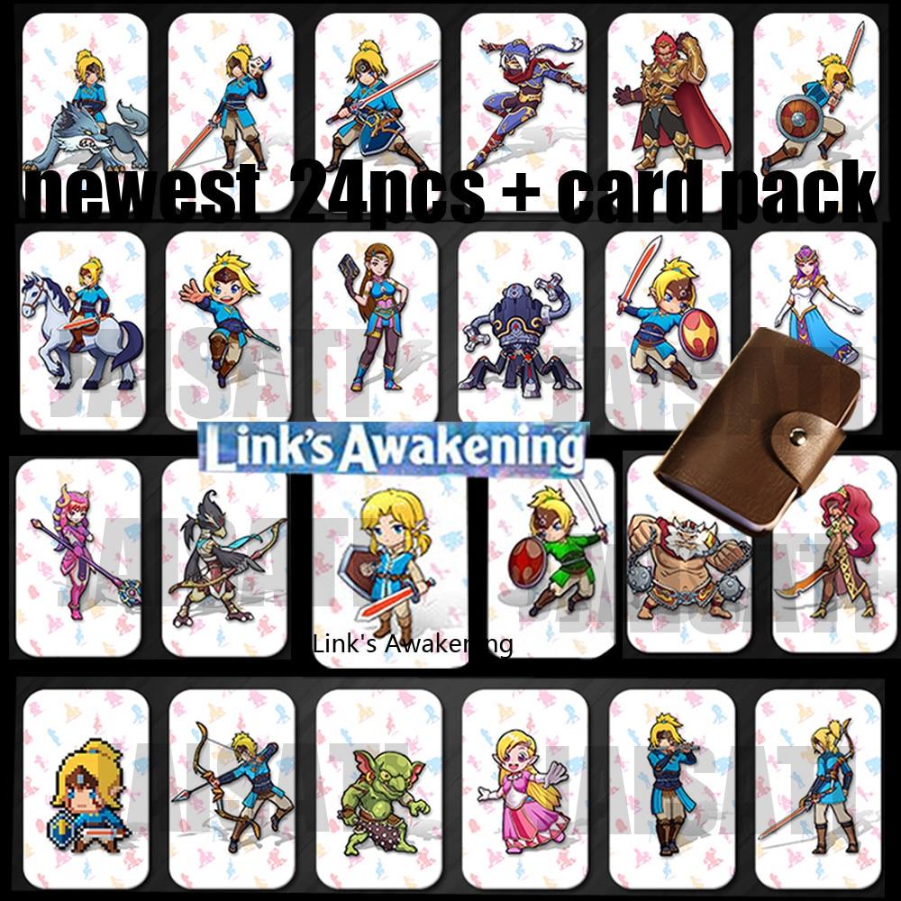 24 Pcs Zelda Breath Of The Wild Amiibo Card Zelda Link Awakening NFC Card Ntag215 Tag Diablo Splatoon 2 Super Odyssey For Amiibo
