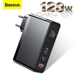 Baseus 120W GaN SiC USB C cargador de carga rápida 4,0 3,0 QC tipo C PD rápido cargador USB para Macbook Pro iPad iPhone Samsung Xiaomi