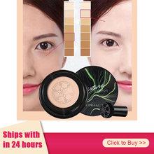1pcs Almofada de Ar Cabeça de Cogumelo CC Creme Fundação Corretivo Maquiagem Hidratante Branqueamento Maquiagem Maquiagem Cosméticos TSLM1