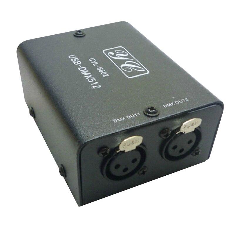 HLZS-512-Channel USB à DMX DMX512 lumière LED contrôleur d'éclairage DMX