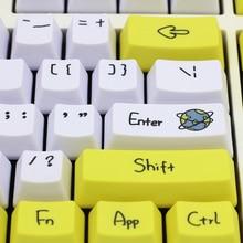 صبغ Subbed PBT Keycap 108 مفاتيح OEM الشخصي كاي كابس لمفاتيح MX مفتاح غطاء لوحة المفاتيح