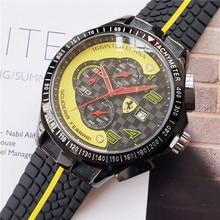 купить New sports car watch fashion casual sports watch car fan watch three-eye pointer quartz watch  men watches по цене 2711.41 рублей