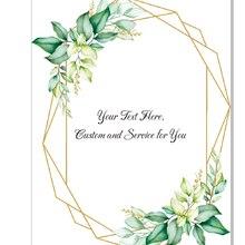 Wedding-Invitations Greenery Shower Acrylic Sweet 10pcs Leaf Birthday Baby 16th Custom