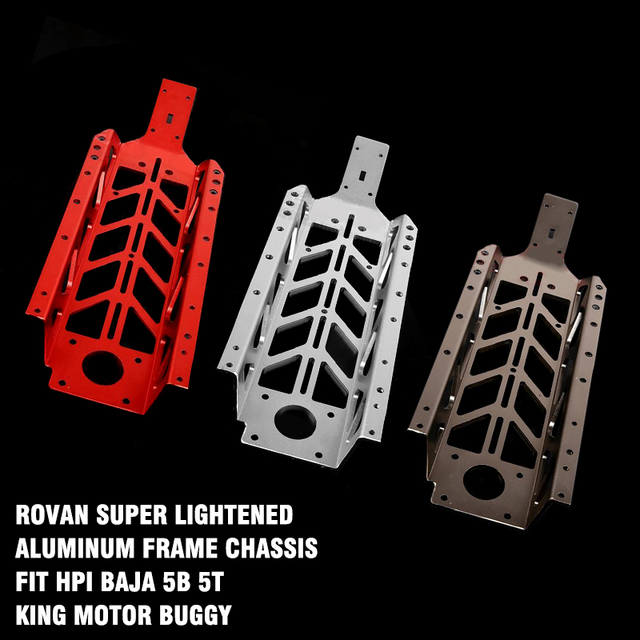 Rovan Super Lightened Aluminum Frame Chassis Fit HPI Baja 5b 5t King Motor Buggy For 1/5 Scale HPI 5t 5SC 2WD Gas Truck Parts