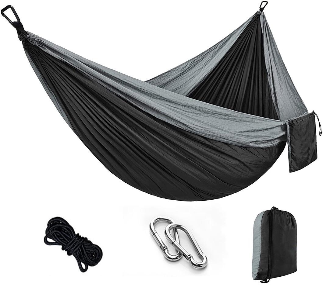 Portable Camping Hammock,Double Hanging Bed,Lightweight Nylon Parachute Hammock, Outdoor Survival Travel Leisure Sleeping