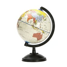 20cm White World Map Globe With Swivel Stand Geography Educational Toy enhance knowledge of earth and geography