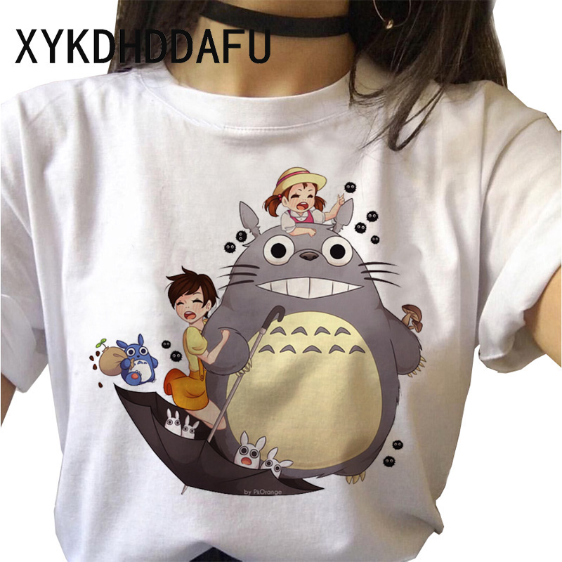 H2af738cdbc4e4888869f509adaead5c2L - Totoro T Shirt Women Kawaii Studio Ghibli Harajuku Tshirt Summer Clothes Cute Female ulzzang T-shirt Top Tee japanese Print