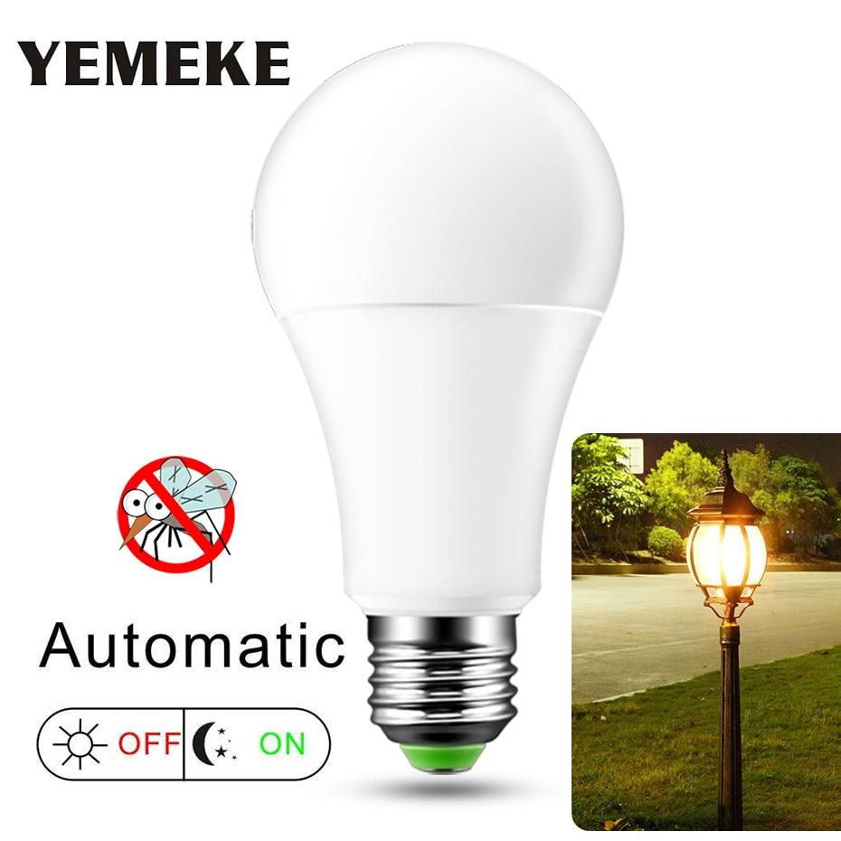 AC220V 110V E27 Dusk To Dawn Light Bulb 10W 15W LED Sensor Bulb IP44 Outdoor  Day Night Light Smart Auto On/Off Lamp  Home Light