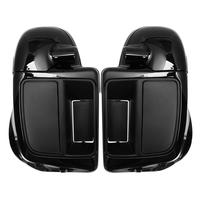 Motorcycle Black Lower Vented Leg Fairing Glove Box Fit For Harley Touring Street Glide Ultra Road King 2014 2019
