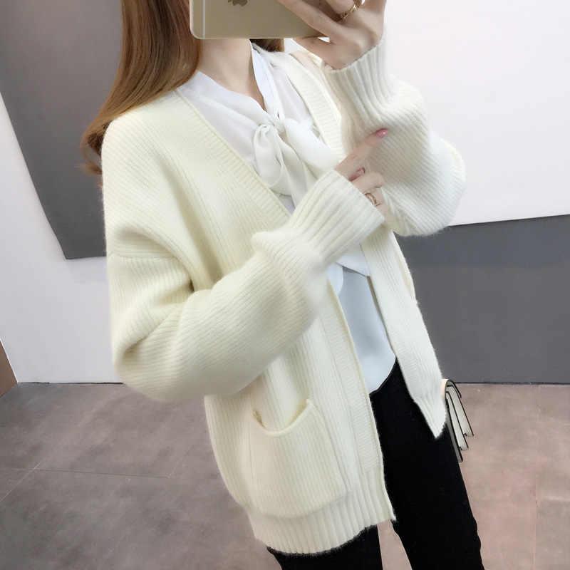 Kalın hırka sonbahar kazak kadın moda bayan giyim bahar ceketler üst Femme Casaco Feminino LWL724