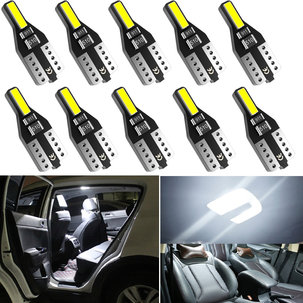 10PCS T10 W5W <font><b>LED</b></font> Light 194 168 2825 Trunk <font><b>Bulb</b></font> <font><b>Interior</b></font> Dome Lamp For <font><b>BMW</b></font> E30 E36 E39 E46 M3 M5 3 5 Series E46 E90 <font><b>E60</b></font> image