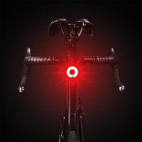 Luz trasera inteligente LED XOSS para Bicicleta luces traseras de freno automático COB LED Max 40 lúmenes 3 modos de iluminación Luz Bicicleta