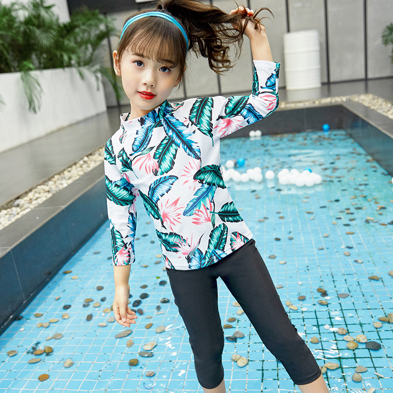 Children Diving Suit Split Type Two Piece Set Sun-resistant Trousers GIRL'S Quick-Dry Girls Surfing Snorkeling Big Boy Jellyfish