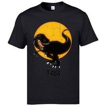 Tops de manga corta Vintage/Camiseta de algodón Luna t-rex Camiseta cómoda para hombres Camiseta de moda prevalente ropa de calle de alta calidad
