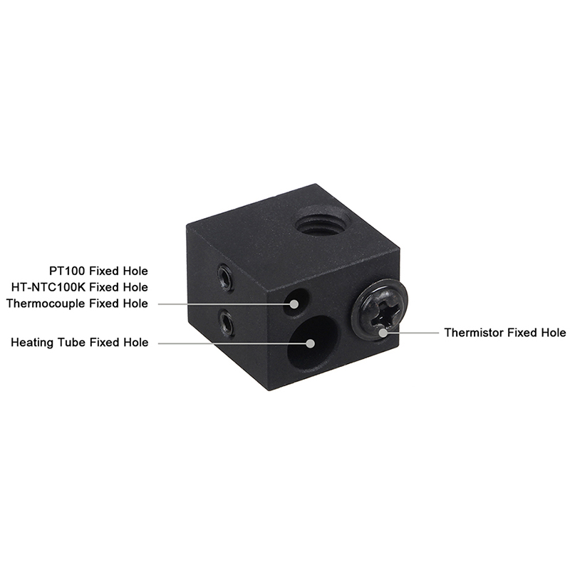 E3D V6 Hotend Kit High Temperature Version 300 Degrees Celsius J Head 3D Printer Parts 0 4 1 75Mm Remote Extruder 12V in 3D Printer Parts Accessories from Computer Office