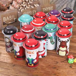 Image 4 - 1PCS Christmas Candy Tin Box Santa Claus Snowman Candy Cans Christmas Candy Jar Iron Boxes Gift Sweets Box Children Presents