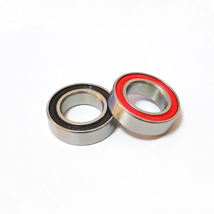 17x28x7 mm Rubber Sealed Ball Bearing Bearings 17287RS RED 2 Pcs 17287-2RS
