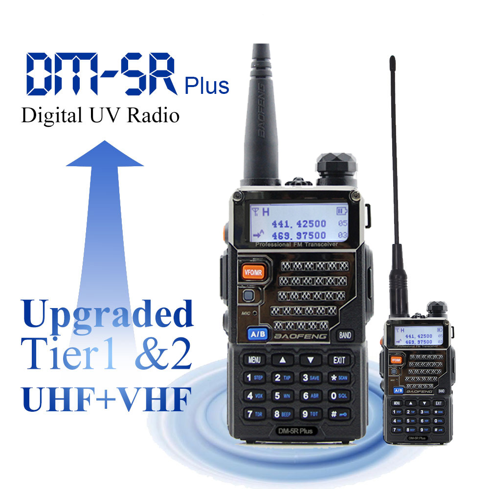 Baofeng Digital Radio DM-5R Plus Dual Band 136-174&400-480MHz Portable DMR Radio Station Baofeng Walkie Talkie 2000mAh