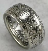 90% silver Morgan Silver Dollar Coin Ring 'eagle' 1899O Handmade In Sizes 8 16