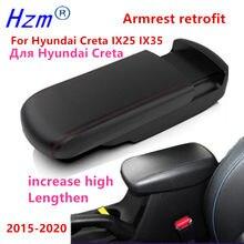 Para hyundai ix25 creta ix35 2014-2020 caixa de apoio de braço alongar aumentar retrofit suporte decoração acessórios do carro