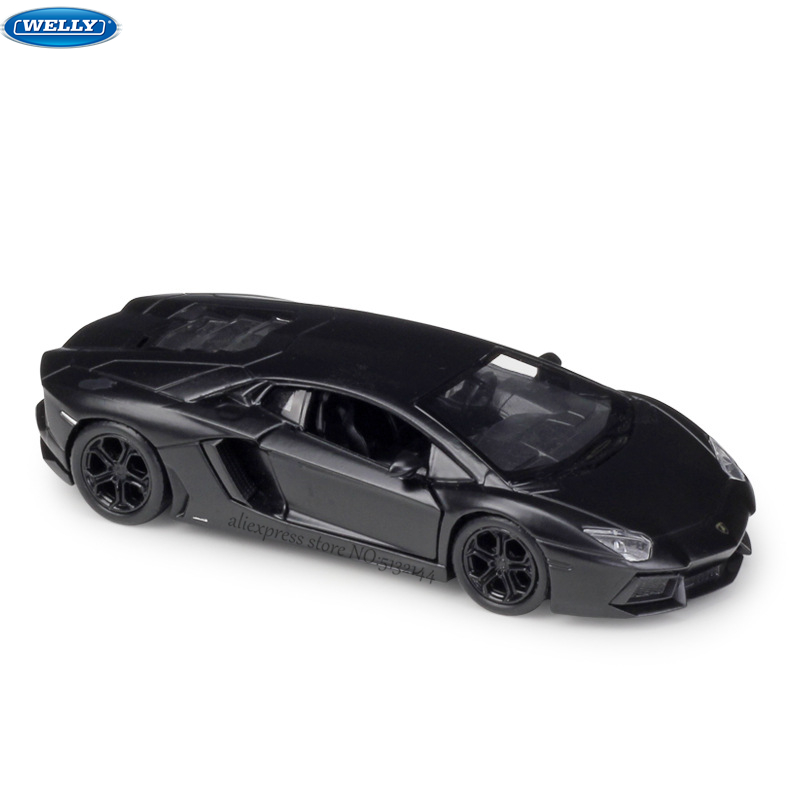 WELLY 1:36 Lamborghini AVENTADOR-LP700 Alloy Car Model Machine Simulation Collection Toy Pull-back Vehicle Gift Collection