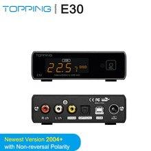 TOPPING E30 AK4493 + AK4118 dekoder DAC hi-res Audio XMOS XU208 PCM 32 bit/768kHz DSD512 z pilotem obsługa dotykowa