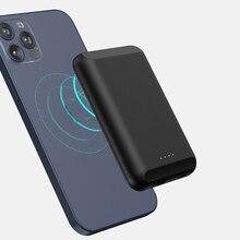 5 Вт Беспроводное зарядное устройство для Magsafe iphone 12 Pro Max 12, мини магнитное портативное зарядное устройство, Внешний аккумулятор со встроенн...