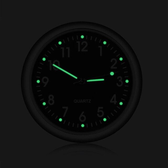 Car Clock Luminous Mini Automobiles Internal Stick On Digital Watch Mechanics Quartz Clocks Auto Ornament Car