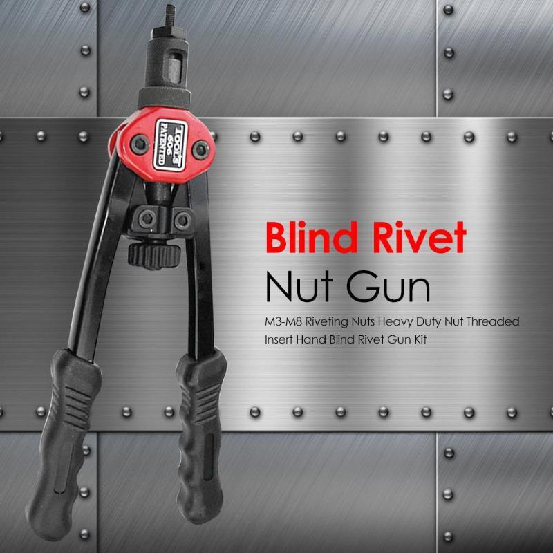 Rivet Nut Gun Kit Elaborate Manufacture Prolonged Durable Stainless Steel Flat Head Threaded Rivet Insert Nutsert Cap