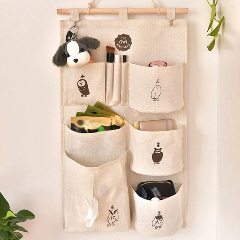 Saving Space 9 Pockets Home Wall Hanging Organizer Storage Toys Paper Tissues Glasses Bedroom Bathroom Organizer Container Bags