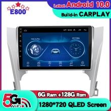 6GB pamięci Ram 128GB Rom samochodu Radio Stereo dla Toyota Camry 2015 z systemem Android 10.0 multimedialny Radio samochodowe nawigacja GPS z Bluetooth sieci 5G