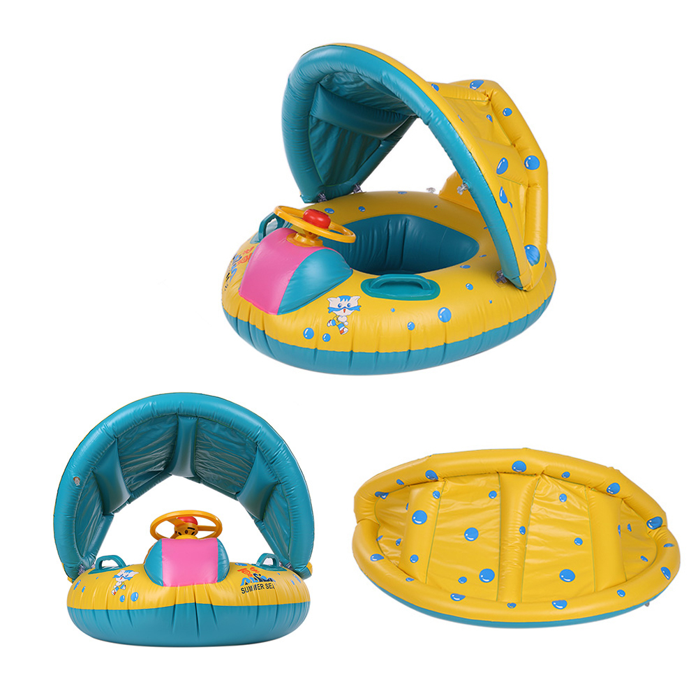 Safety Baby Swimming Ring Pool Inflatable Adjustable Infant Swimming Pool Float Sunshade Seat Baby Bathing Circle Piscina Wheel