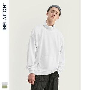 Image 3 - 인플레이션 2020 뉴 루즈 피트 와플 소재 스웨터 남성용 카울 넥 풀오버 가을 씬 남성 운동복 퓨어 컬러 9622W