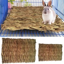 Rabbit Straw Mat Pet Hamster Chewing Toy Grass Preparation Pad Small Animal Rat Guinea Pig Fun