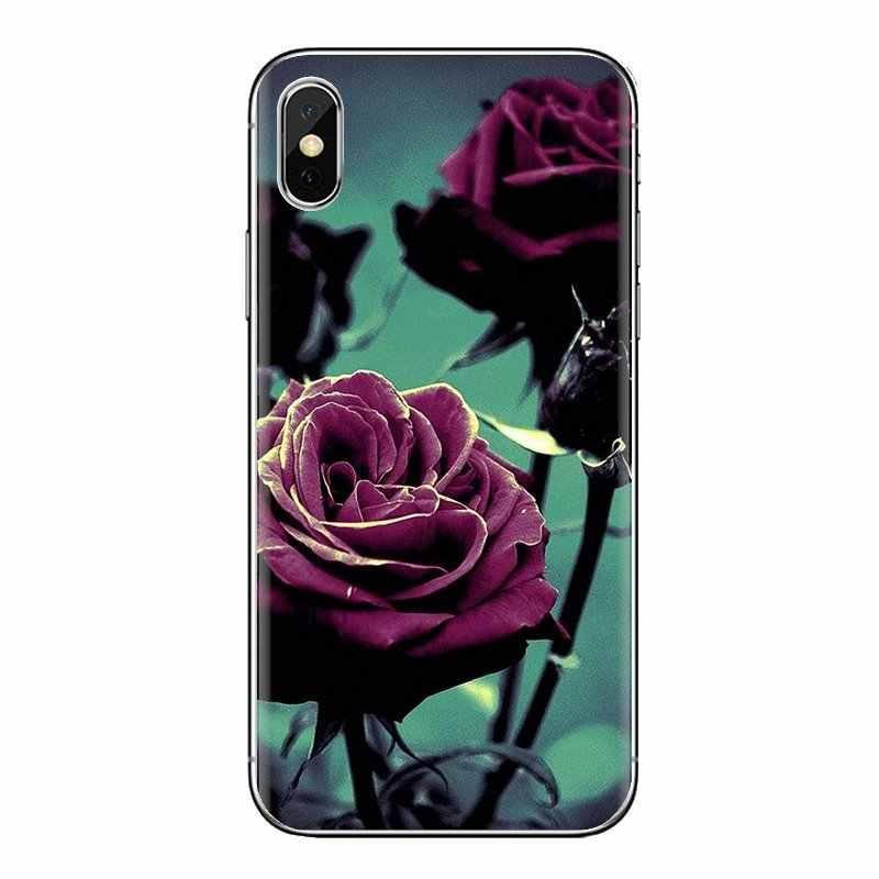 Funda de piel de teléfono de silicona con pintura de flor rosa púrpura de la belleza de la vida para Huawei Mate Honor 4C 5C 5X6X7 7A 7C 8 9 10 8C 8X20 Lite Pro
