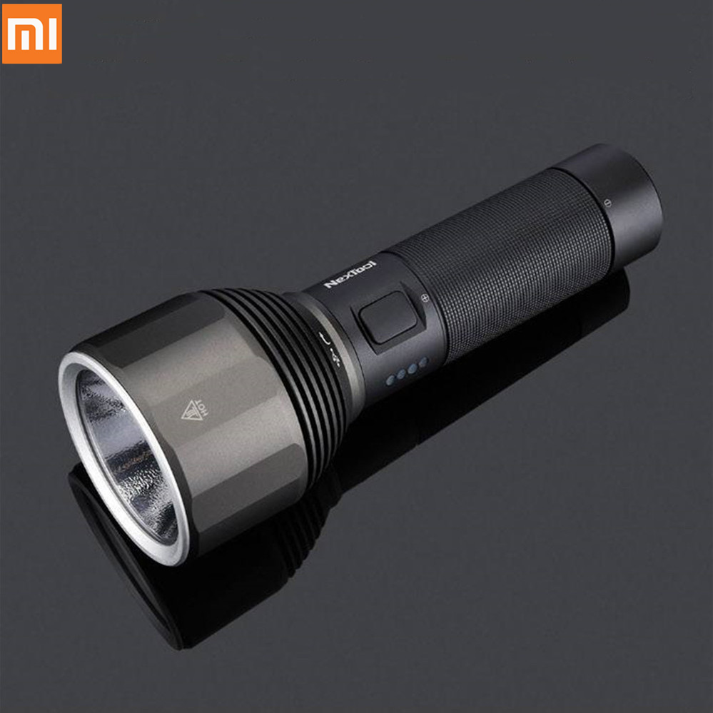 XIAOMI Youpin NexTool 2000lm flashlight 380m Searching Torch 5 Modes IPX7 rechargeable waterproof LED flashlight type-C charge