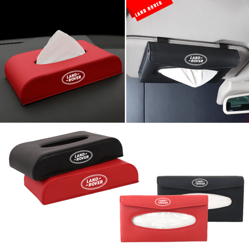 Car Tissue Box Accessories for Range Rover Evoque L322 P38 Vogue Velar Defender Aurora Discovery Car Paper Cover Case