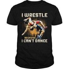 I Wrestle, ponieważ nie mogę tańczyć koszula z krótkim rękawem Graphic Tee kobiety mężczyźni słodkie popularne kobieta Heather Graphic TShir