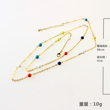 цена на Fashion Belly Jewelry Simple Handmade Delicate Sexy Colorful Bead  Waist Belly Chain Gold Silver Color Body Chain for Women