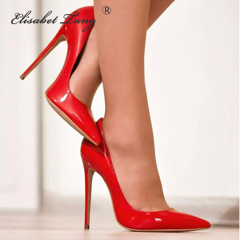 ElisabetTang Brand Shoes Woman High Heels Ladies Shoes 12CM Red Heels Pumps Women Shoes High Heels Sexy Wedding Shoes Stiletto