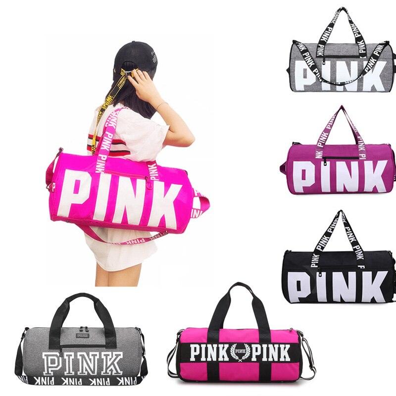 Rosa saco de ginásio das mulheres à prova dwaterproof água sacos de desporto para treinamento fitness yoga bolsa ombro sacos bolsa bolsa esporte