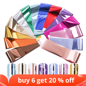 Image 1 - 14pc or 1 pc Metal Transfer Foil for Nail Art Laser Mirror Effect Charm Nail Foil Sticker Decal Manicure Accessories LA996 2