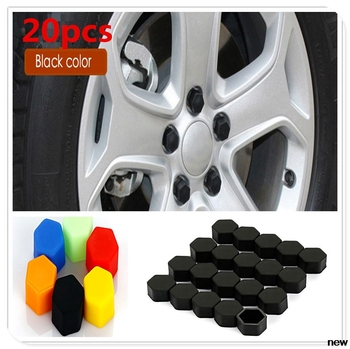 17/19/21mm Silicone car Wheel Hub Screw Cover Nut Cap for Fiat Punto Palio Uno Idea Bravo Sedici Grande Tipo Qubo Panda Mobi image