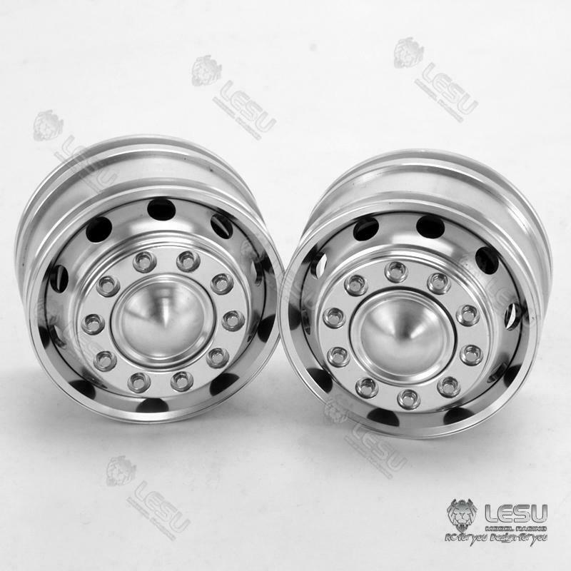 LESU Front Hub Metal TAMIYA 1/14 RC VOLVO FH12 FH16 Tractor Truck Powered Axle