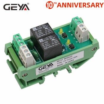 цена на GEYA 2 Channel Relay Module AC/DC 12V 24V AC230V Relay Interface