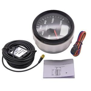 Image 2 - 120kmh/200Kmh Odometer 85mm Boat GPS Speedometer Truck Car Speedometer IP67 Waterproof GPS Gauge Meter Speed Odometers LCD Gauge