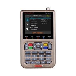 Image 2 - GTmedia Satellite Finder Meter V8 Finder HD DVB S2 SatFinder 3.5 pollici colore con 3000mA batteria Freesat V8 Finder FTA Sat finder