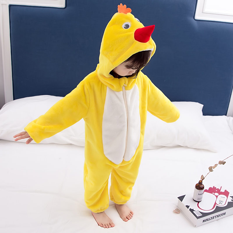 Baby Kids Animal Pajamas Romper Kigurumi Cosplay Sleep Costume Bathrobe Bodysuit